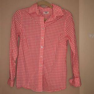 Tops - Orange button down shirt